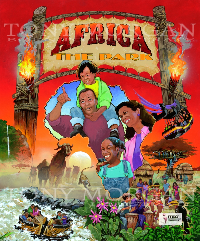 Africa the park painting