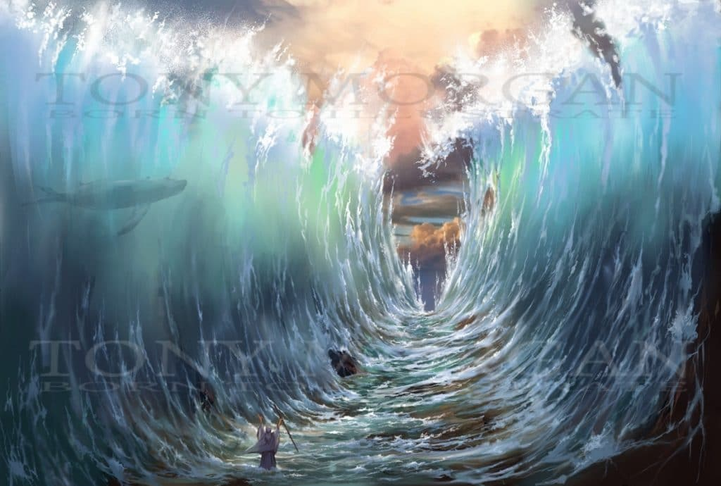 Moses -G-d dividing the sea for the children of Israel